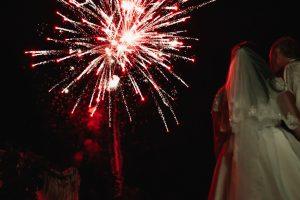 feux d'artifice pour mariage